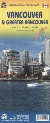 International Travel Map ITM Vancouver & Greater Vancouver