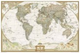 National Geographic Map World Executive, enlarged, laminated, Planokarte